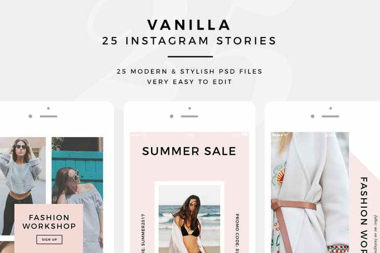 Vanilla Instagram Stories for your Promotions