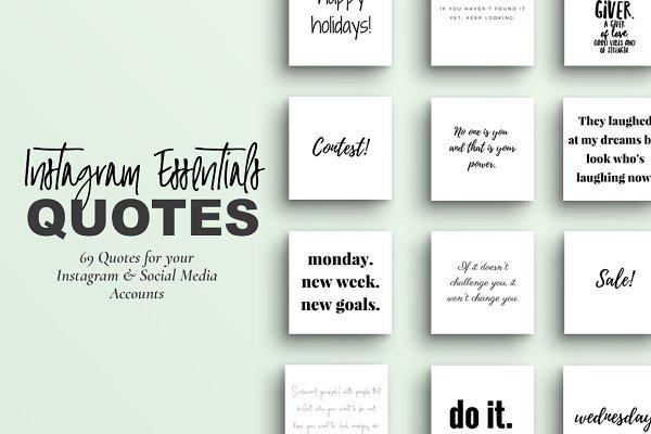 Instagram Essential Quotes & Posts