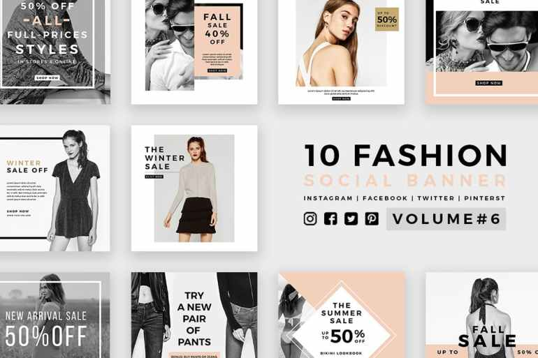Fashion Social Media Banners - Kit 06