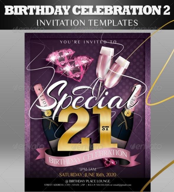 Birthday Invitation Templates 2