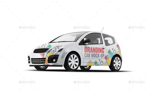 City Car Branding Mockup