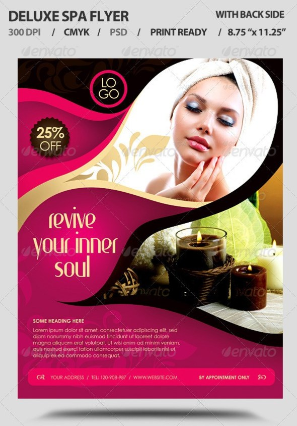 Deluxe Spa Business Promotion Flyer
