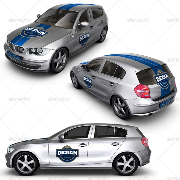 Executive/Family Car Mockup