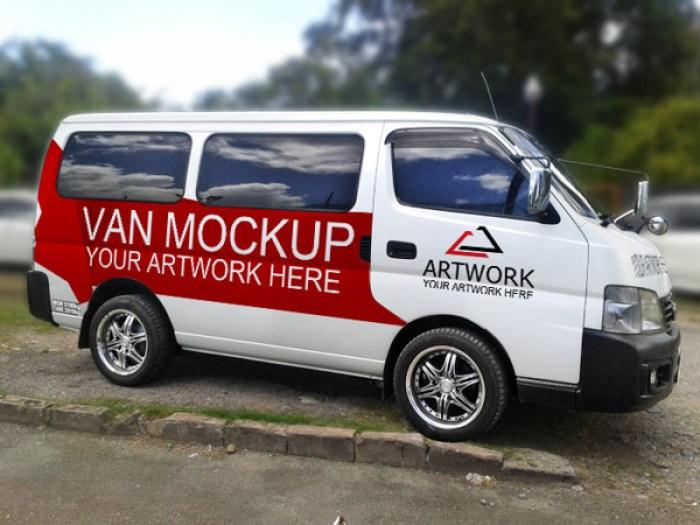 Free PSD Van Mockup