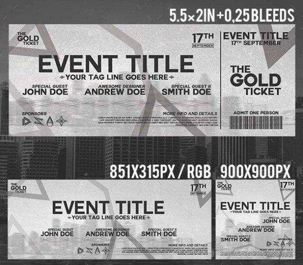 Minimal Event Ticket Template