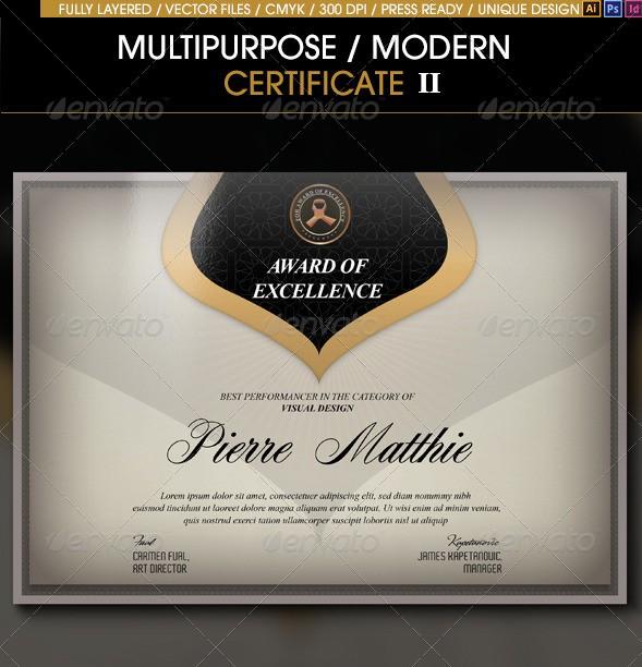 Multipurpose Modern Certificate v.2
