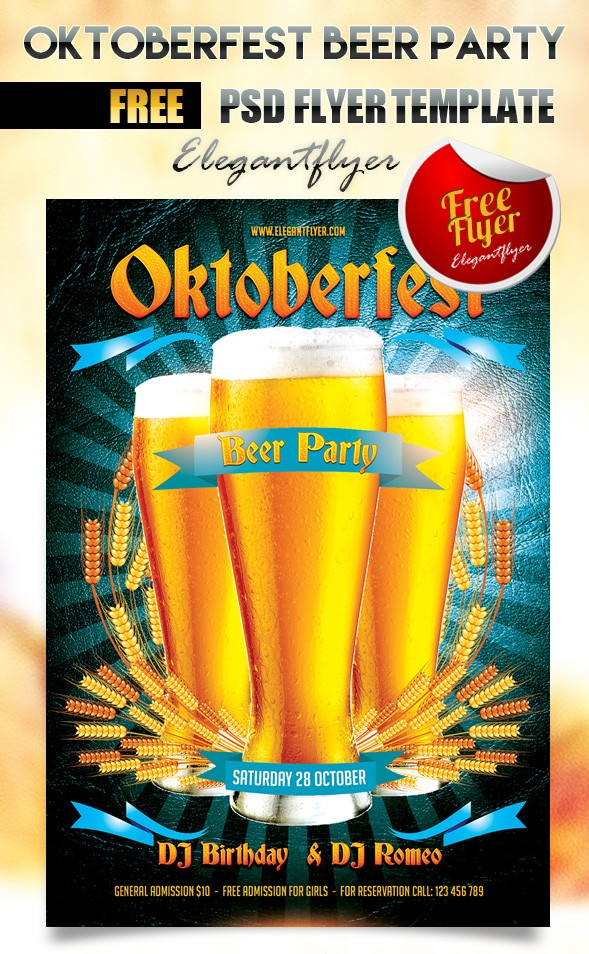 Oktoberfest Beer Party Flyer Template