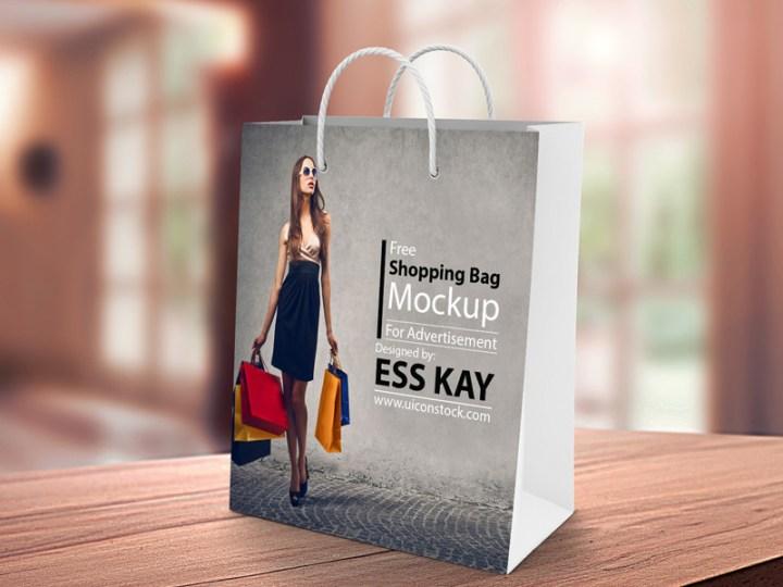 nice free shopping bag psd template