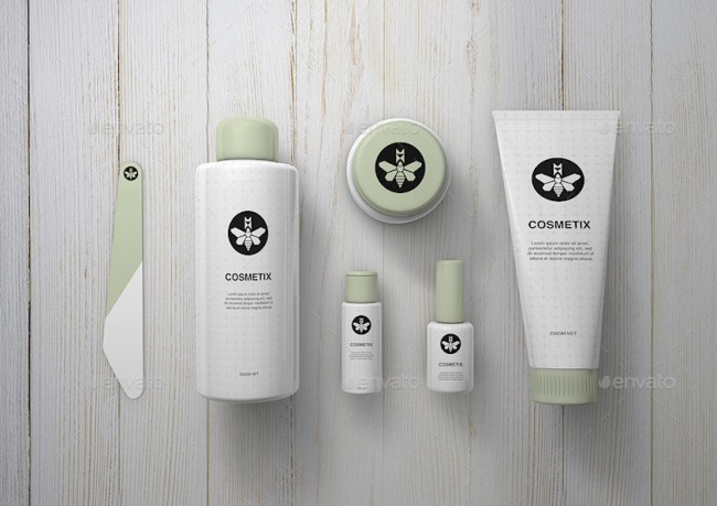 Toiletries & Make Up Mockup