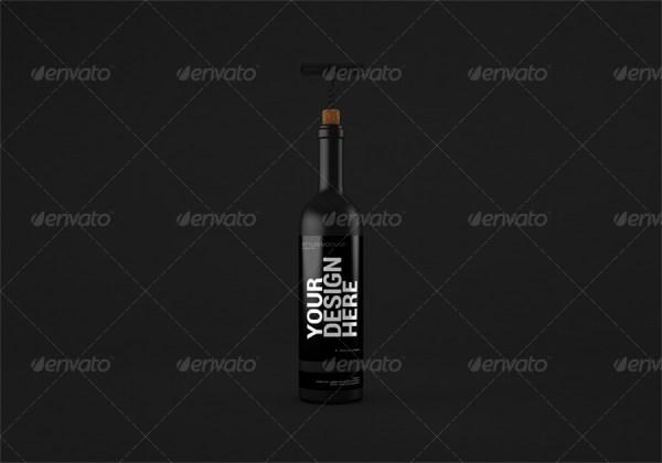 Wine Bottles Mockup