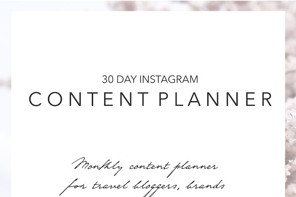 30 Day Instagram Content Planner
