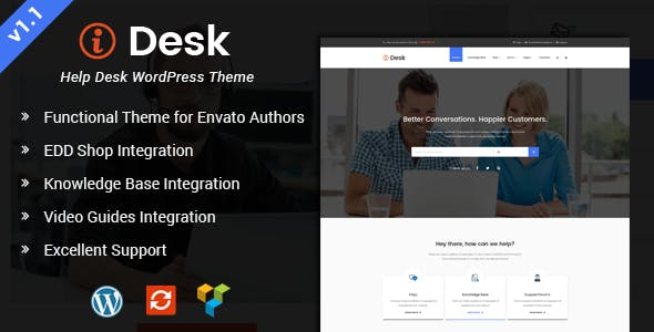 iDesk - HelpDesk WordPress Theme
