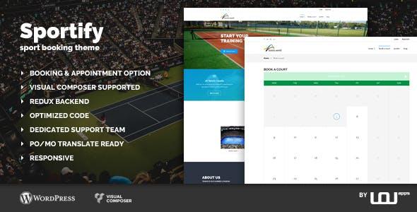 Sportify - Sport Booking Theme