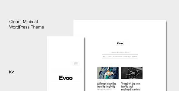 Evoo - WordPress Theme for Bloggers