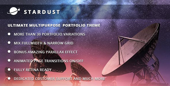 Stardust - Multi-Purpose Portfolio WordPress Theme