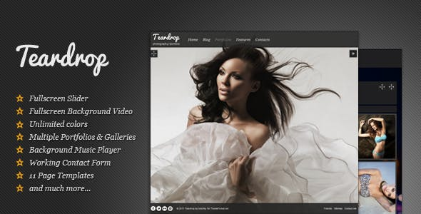 Teardrop - Fullscreen Photography Theme