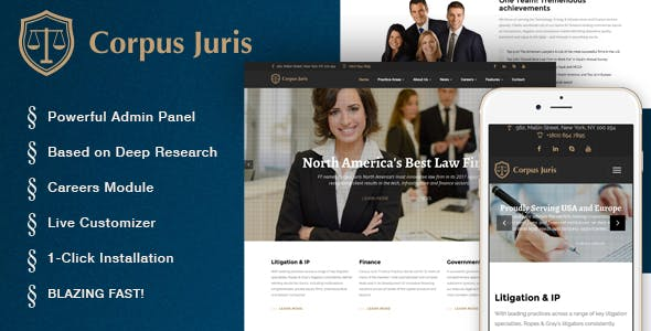 Corpus Juris - Law Firm and Consultation WordPress Theme