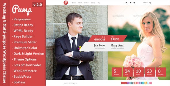 Pump - Responsive Wedding & Multi-purpose Theme