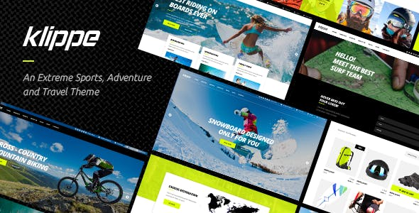 Klippe - An Extreme Sports and Adventure Tours Theme