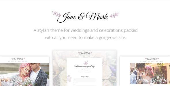 Jane & Mark - A Stylish Theme for Weddings and Celebrations