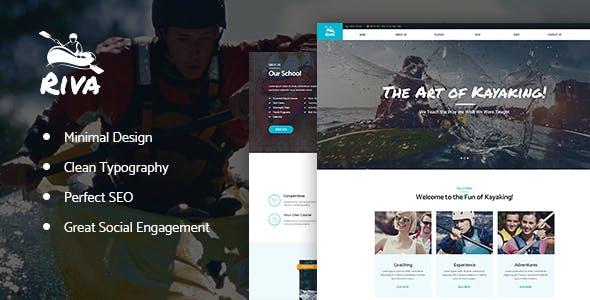 Kayaking / Paddling / Sports & Outdoors WordPress Theme