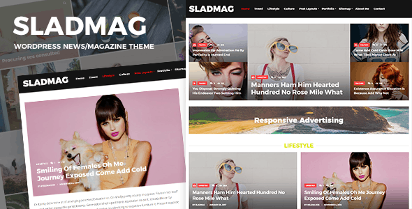 Sladmag - Responsive News/Magazine WordPress Theme