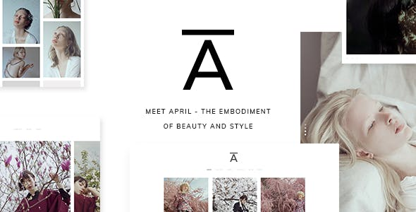 April - A Sophisticated Photography Theme