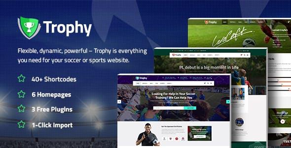 Trophy - A Dynamic Soccer Club, Sports, and Coaching Theme
