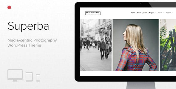 Superba: Media-centric Photography WordPress Theme
