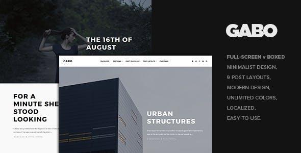 Gabo - Minimalist & Full-Screen WordPress theme