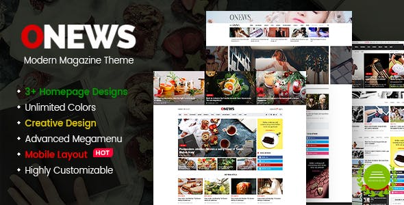 ONews - Modern Newspaper & Magazine WordPress Theme (Mobile Layout Included)