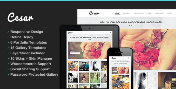 Photography WordPress | Cesar for Photography