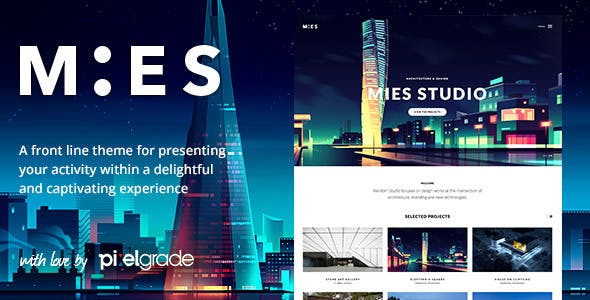 MIES - An Avant-Garde Architecture WordPress Theme