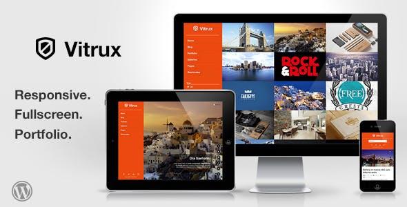 Vitrux - Responsive Fullscreen Portfolio WP Theme