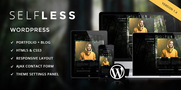 Selfless - A One Page WordPress VCard Theme
