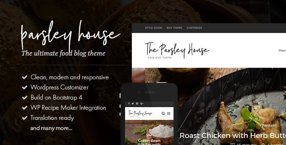Parsley - A Recipe WordPress Blog Theme