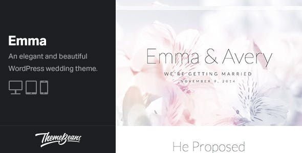 Emma - Beautiful Wedding & Engagement Celebration WordPress Theme