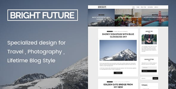 BrightFuture - Minimal Blog WordPress Theme
