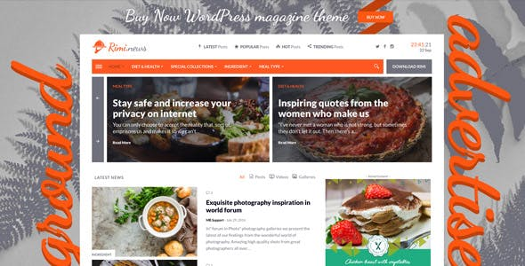 Rimi - WordPress Theme for Food Blog and Magazine