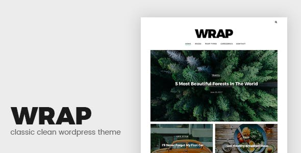 Wrap - Minimalist Blog WordPress Theme