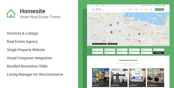Homesite - Multi Concept Real Estate WordPress Theme