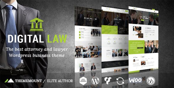 Digital Law | Attorney, Lawyer and Law Agency WordPress Theme
