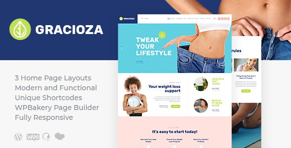 Gracioza | Weight Loss Blog WordPress Theme