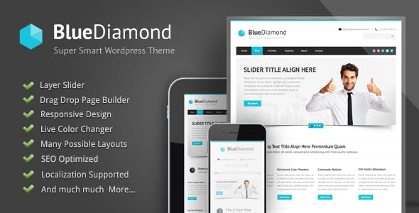 Blue Diamond - Responsive Corporate WP Theme