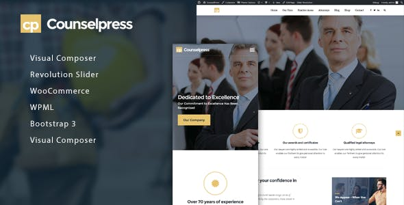 CounselPress - Lawyers & Attorneys WordPress Theme