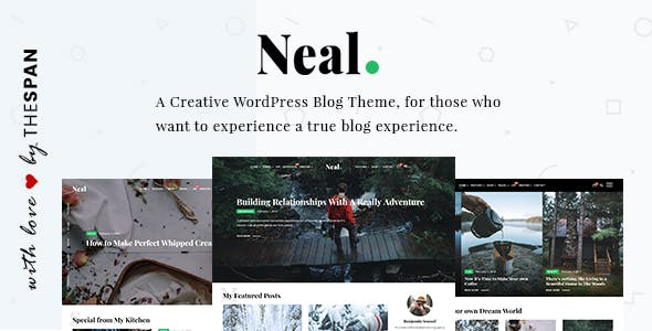Neal - A Creative WordPress Blog Theme