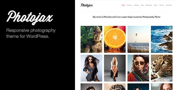 Photojax Minimalist AJAX Photography Portfolio