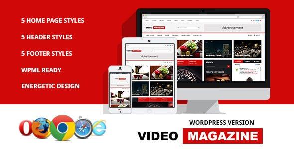 Video Magazine - WordPress Magazine Theme