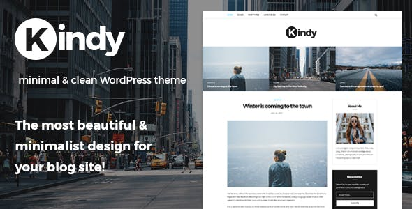 Kindy - Beautiful & Minimalist Blog WordPress Theme