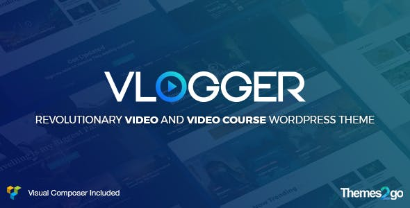 Vlogger: Professional Video & Tutorials WordPress Theme